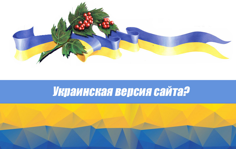 Нужна ли вам украинская версия сайта?