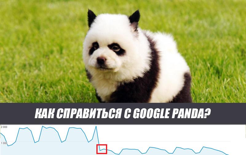 Вывод из под фильтра Google Panda